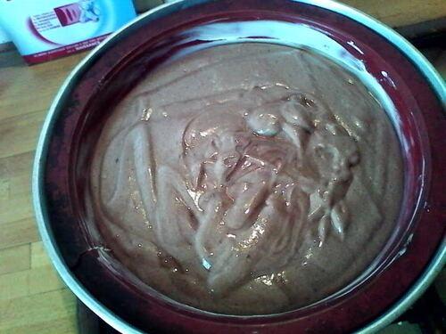 Gâteau des Anges au cacao {pour utiliser les blanc d'oeufs}
