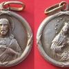 Médaille religieuse en argent Jésus et Marie et l\'Enfant