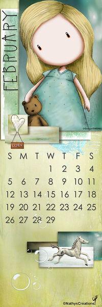 février - bookmark