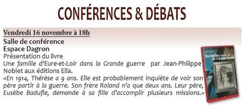 En novembre, je viens 2 fois à la médiathèque d'Auneau, une fois pour le grand public et une fois pour rencontrer 200 élèves