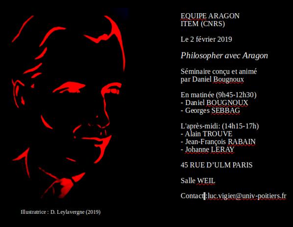 """Séminaire du 2 février 2019: """"philosopher avec Aragon"""""""