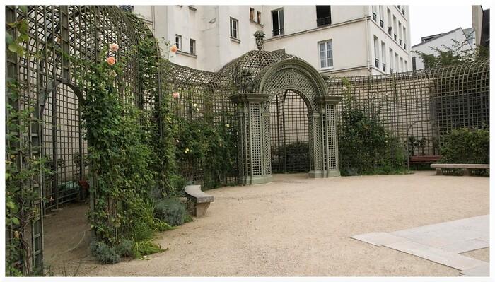 Jardin d'Anne Frank. Paris