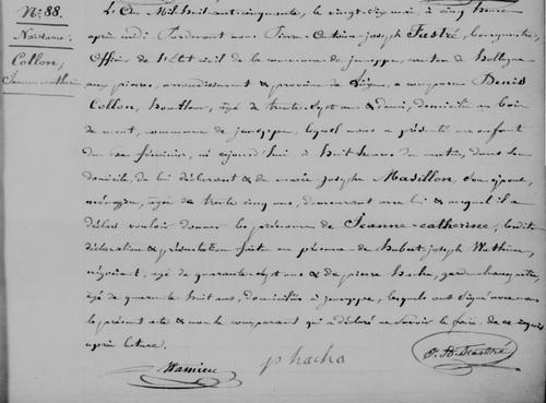 Acte de naissance de Jeanne Catherine Collon (search.arch-be)