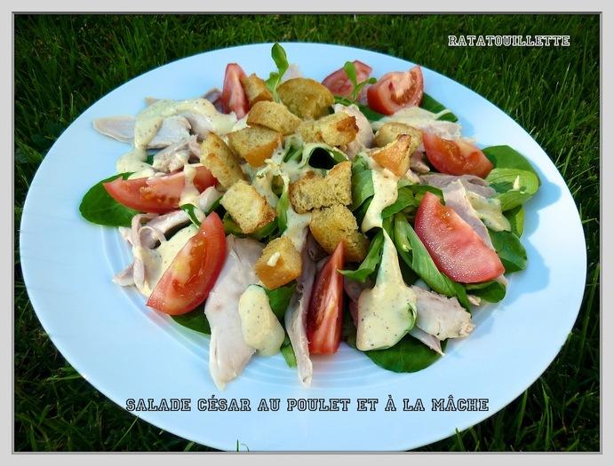 Salade César poulet et mâche