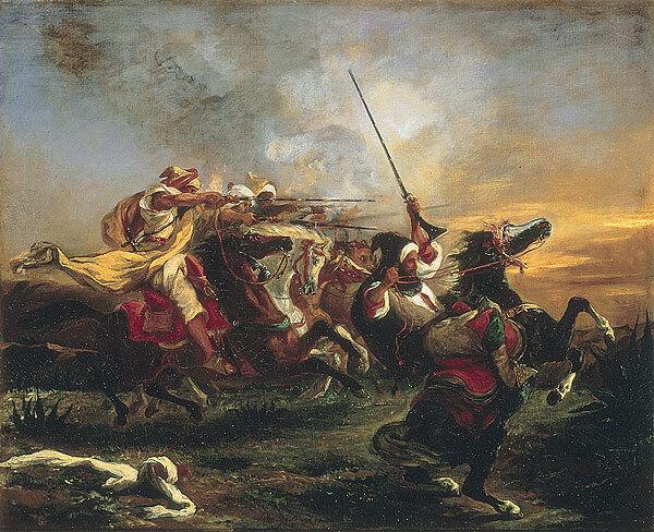 Delacroix - Exercices militaires des Marocains