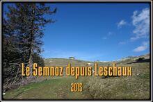 Le Semnoz depuis le col de Leschaux