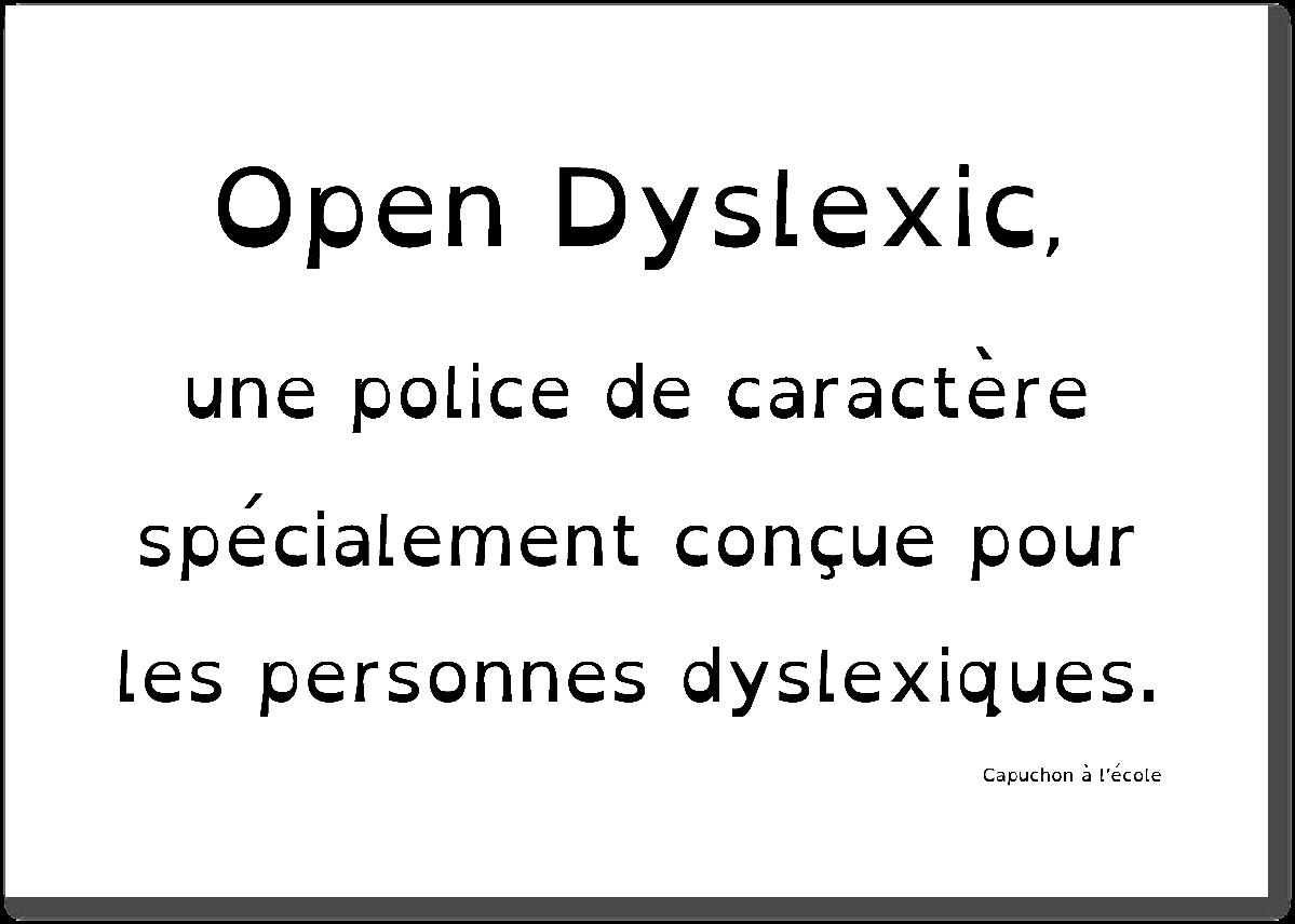 police de caractère dyslexie