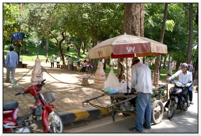 Cambodge. Phnom-Penh, Wat Phnom.