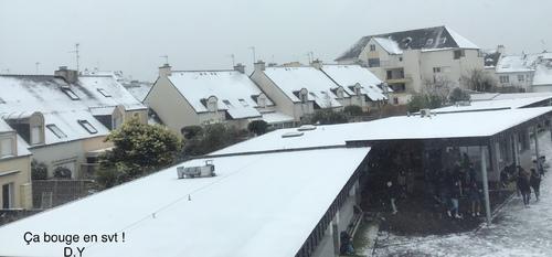 11 février 2021 : le collège St louis sous la neige