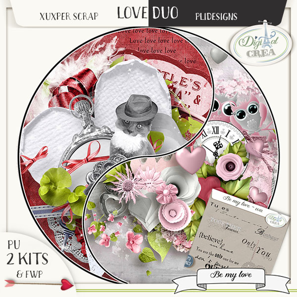 Love Duo  BE MY LOVE by Xuxper Designs et Pli Designs