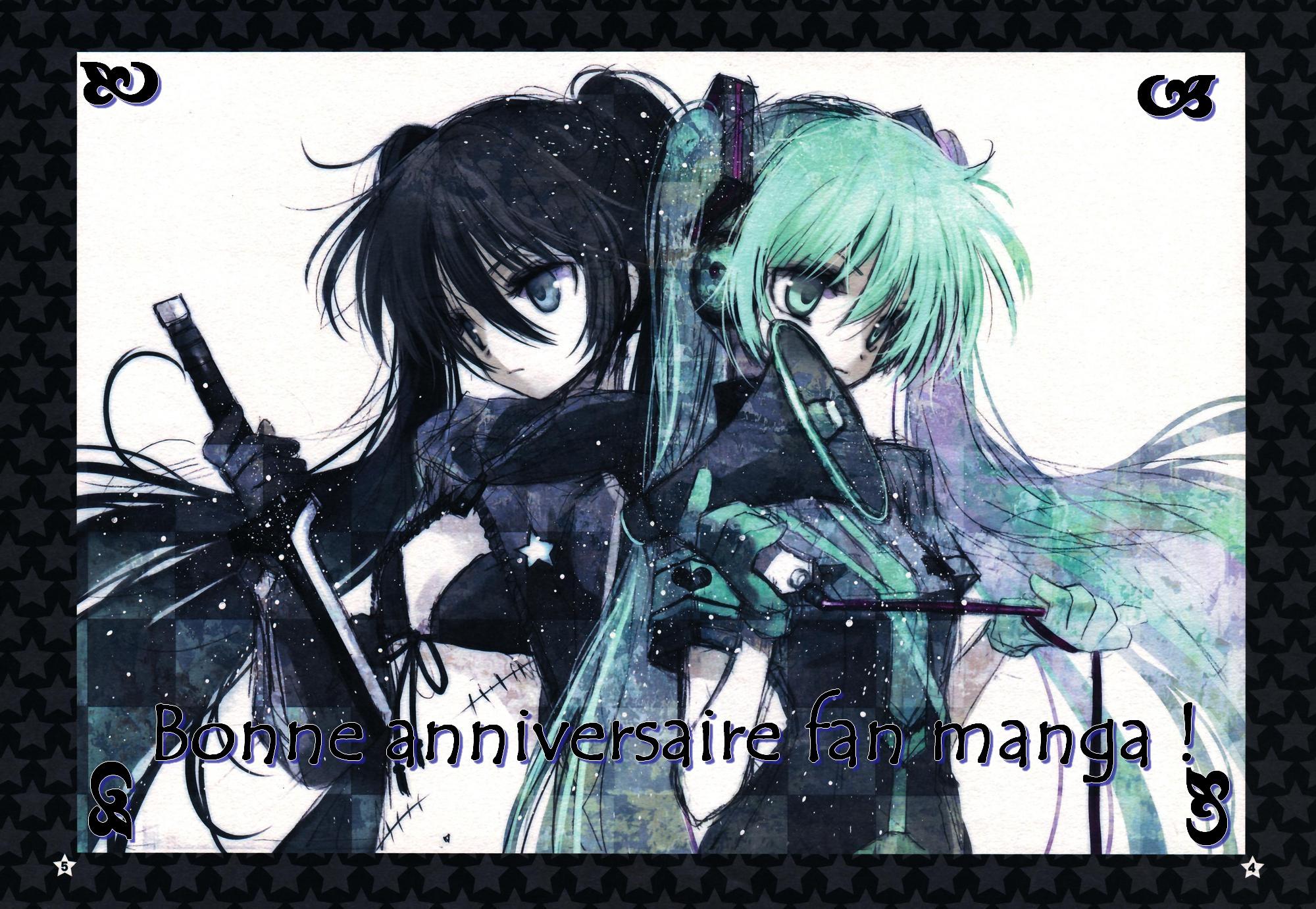 Cadeaux d'anniversaire de fan manga