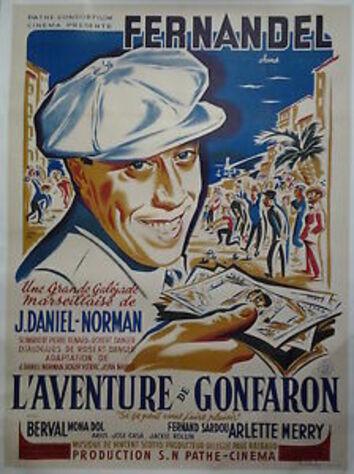 L' AVENTURE DE GONFARON - BOX OFFICE FERNANDEL 1948