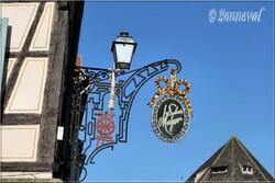 Enseigne magasin à Colmar Haut-Rhin Alsace