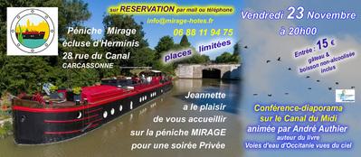 Conférence -Diaporama sur le Canal du Midi