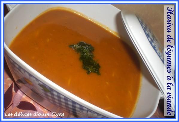 Harira de légumes