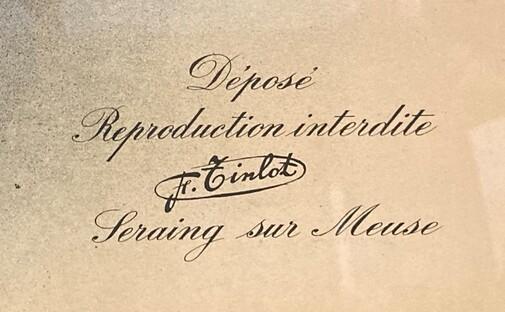 Orange - Temple antoiniste - signature Tinlot