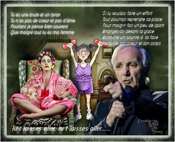 Tu t'laisses aller de C Aznavour