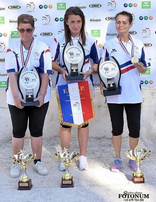 Championnat de France 2016 Triplettes féminines