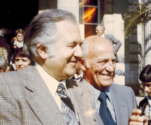 Jean Richard et son fidèle ami Alexis Gruss Sr en 1977