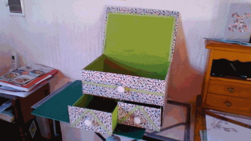Atelier cartonnage du 18 octobre 2016 : grande boîte à rangement