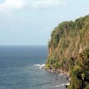 Vue depuis la Vierge des Marins (vers le Sud) - Les falaises de l'Anse Bagasse - 3 - Photo : Michaë