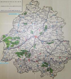 Résistance, Maquis et Libération du département de la Dordogne