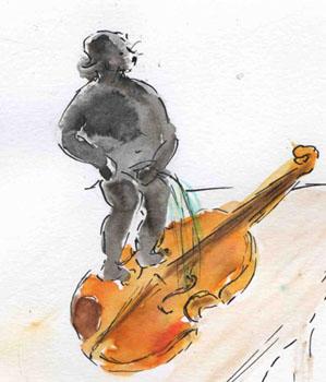 """"""" C' est comme pisser dans un violon """""""