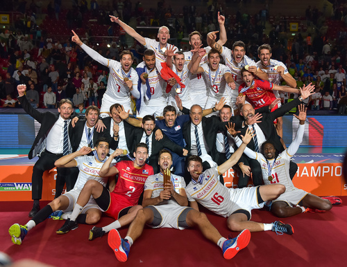 - les FRANCAIS CHAMPIONS d'EUROPE de VOLLEY BALL