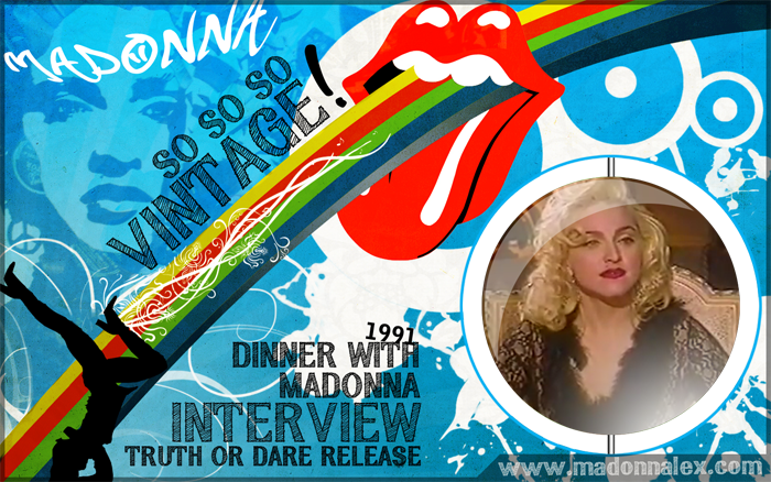 Madonna - Dinner with Madonna - 1991