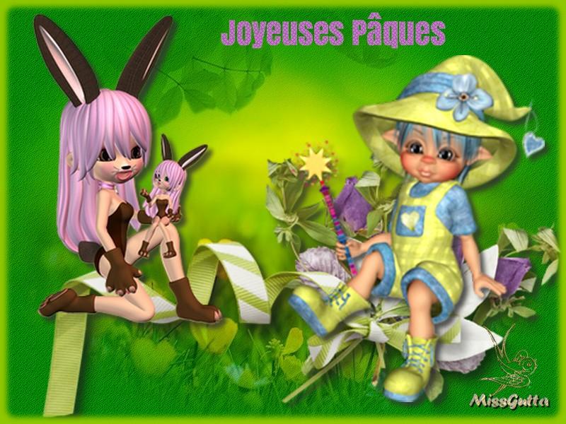 Joyeuses fêtes de Pâques tous mes ami-es