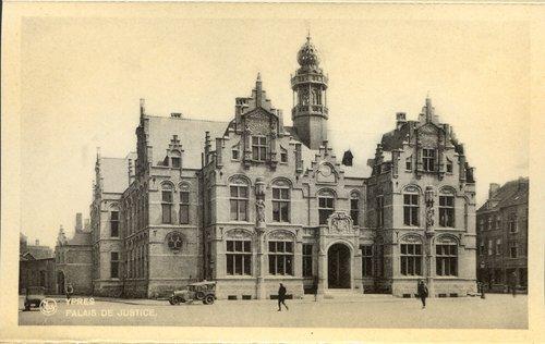 Ieper - Justitiepaleis (remplaçant l'ancien palais épiscopal non reconstruit après guerre)(westhoekverbeeldt.be)