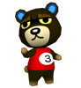 Grizzly animal crossing WII