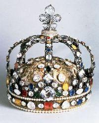 La couronne du Sacre de Louis XV. Augustin Duflot - 1722 - Diamants de la Couronne, galerie d�Apollon, mus�e du Louvre � RMN  - Martine Beck-Coppola