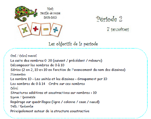 Math CP -feuille de route P2