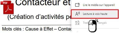 Lire un PDF par voix de synthèse dans le navigateur Edge