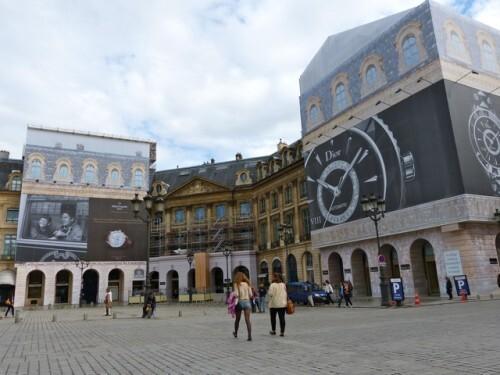 Vendôme trompe-l'oeil affiche géante Patek Philippe Dior