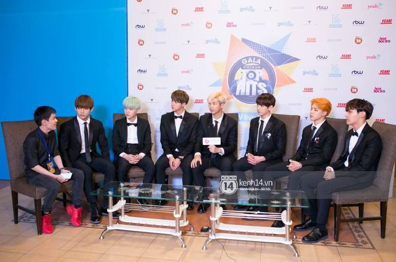 19/01/2016 Gala Vietnam Top Hits + red carpet BTS
