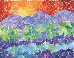 Greeting card - Landscape Mosaic