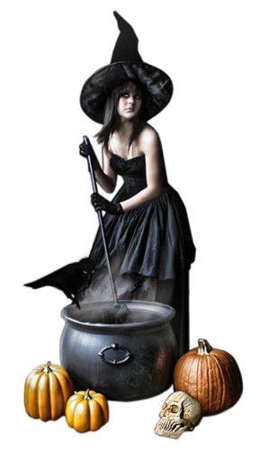 tubes femmes, halloween