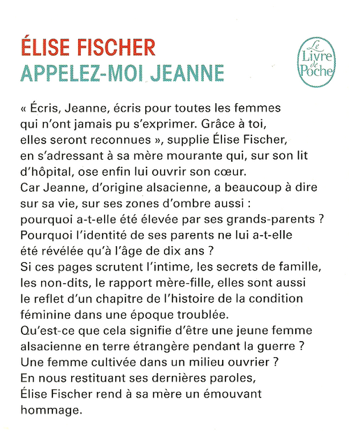 """Appelez-moi Jeanne..."""