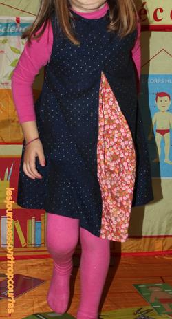 Robe trapèze pour petite fille