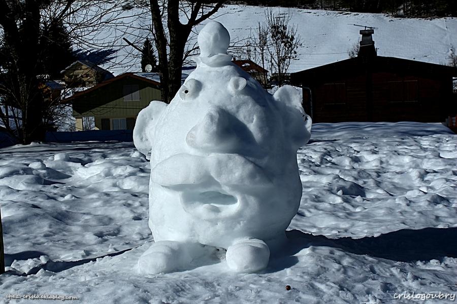 Des artistes sur  neige