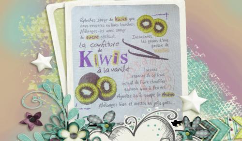 La confiture de kiwis