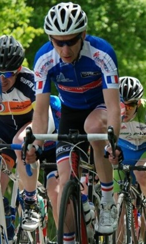 1er podium FFC avec le maillot Team Spondylarthrites