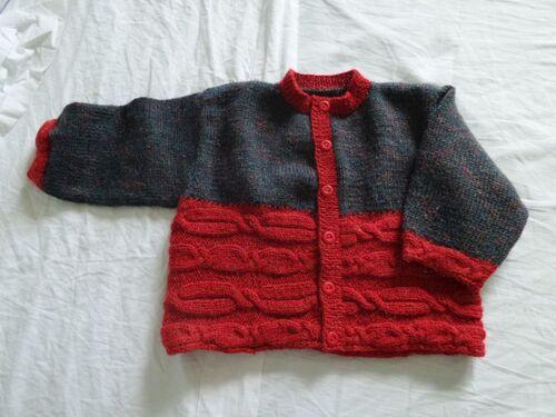 Gilet 1 an avec des restes de laine