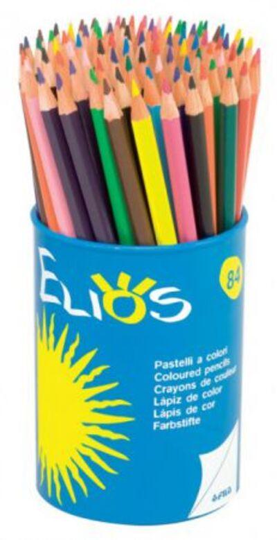 Crayons de couleurs (pots).