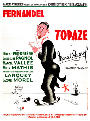 TOPAZE - BOX OFFICE FERNANDEL 1951