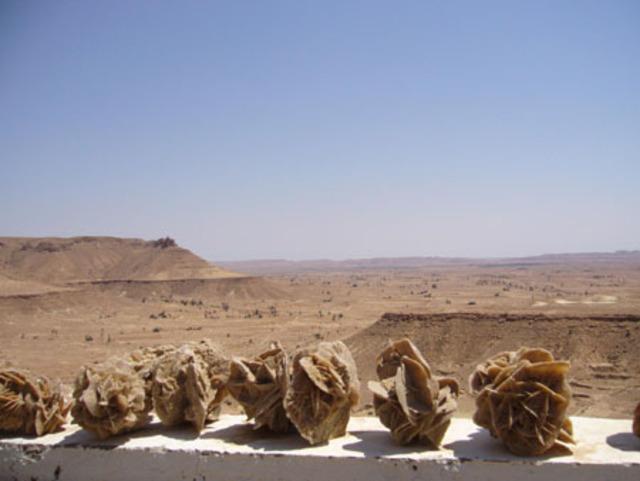 Vue d'en haut du village de Chénini