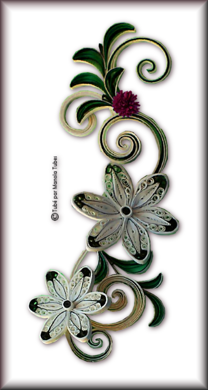 Tubes Quilling Arts floral 2989