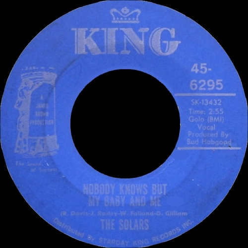 The Solars : Single SP King Records 45-6295 [ US ]